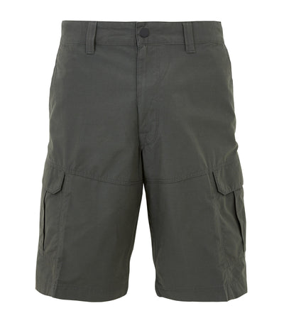 Regular Fit Cotton Rich Shorts with Stretch Olive