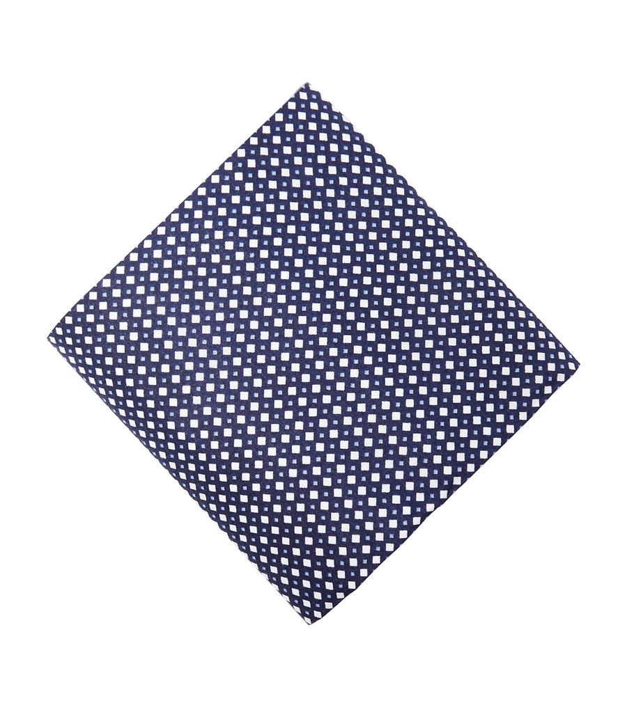 3 Pack Antibacterial Cotton Handkerchiefs Navy Mix