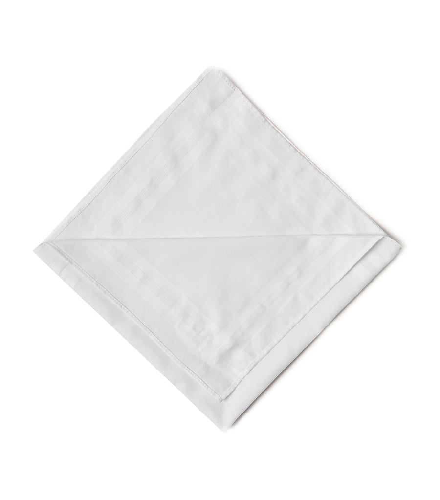 7 Pack Antibacterial Premium Cotton Handkerchiefs with Sanitized Finish® White