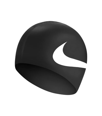 nike swim unisex big swoosh cap black