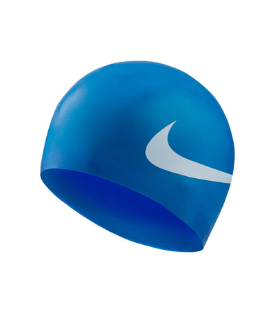 nike swim unisex big swoosh cap game royal