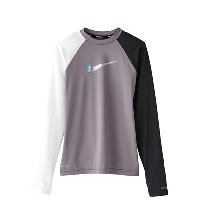 nike swim flash long sleeve hydroguard black