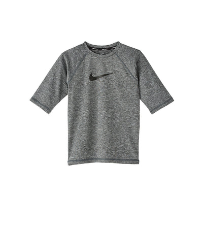 nike swim heather camo swoosh half sleeve hydroguard black