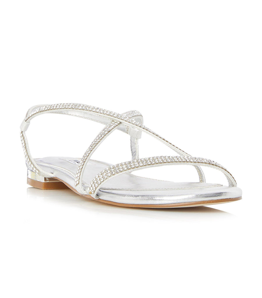 Nicci Di Embellished Barely There Strap Sandals Silver