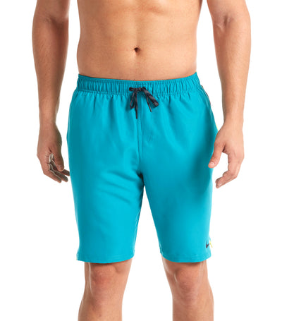 "nike swim perforated diverge 9"" volley short spirit teal"