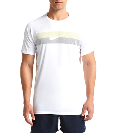 nike swim rift swoosh short-sleeved hydroguard white