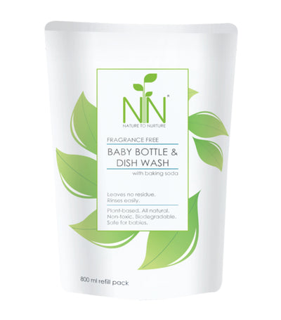 nature to nurture baby bottle and dish wash 800ml refill