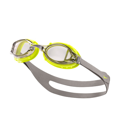 nike swim unisex youth chrome goggle strata gray