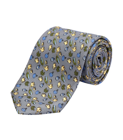 oleg cassini man gray hot air balloon premium silk necktie