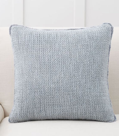 pottery barn duskin chateau blue textured pillow cover