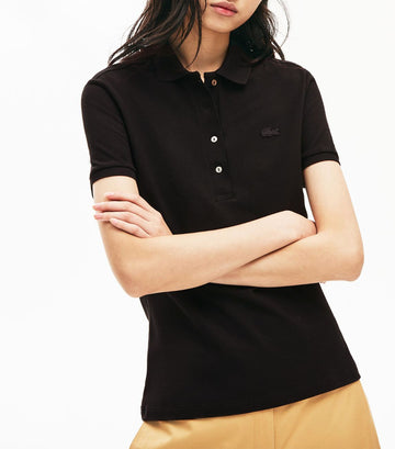 Women's Stretch Cotton Piqué Polo Shirt Black
