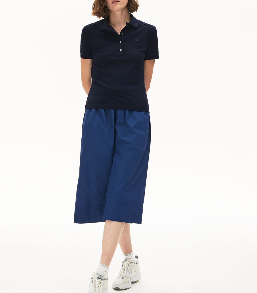 Women's Stretch Cotton Piqué Polo Shirt Navy Blue