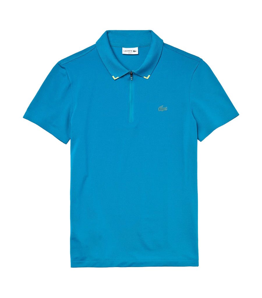 Men's Lacoste Motion Ultra-Light Cotton Polo Shirt Blue and Yellow