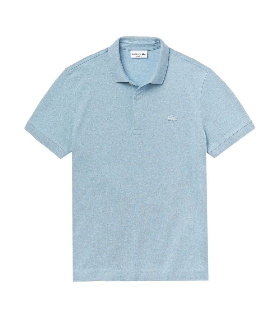 Men's Lacoste Paris Polo Shirt Regular Fit Stretch Cotton Piqué Light Blue
