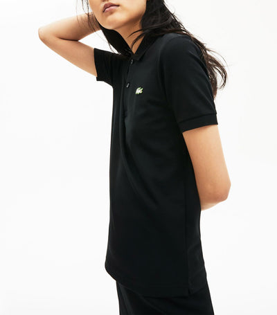 Unisex Lacoste LIVE Slim Fit Stretch Cotton Piqué Polo Shirt Black