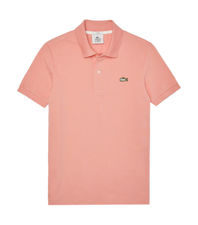 Unisex Lacoste LIVE Slim Fit Stretch Cotton Piqué Polo Shirt Light Pink