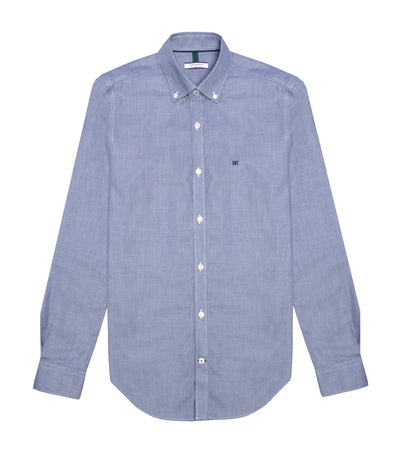 pedro del hierro long-sleeved sport dress shirt blue