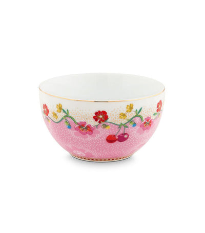 pip studio cherry pink bowl