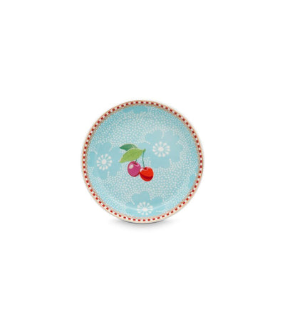 pip studio floral tea tip dotted flower blue