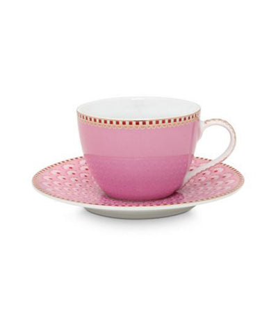 pip studio bloomingtales pink espresso cup and saucer