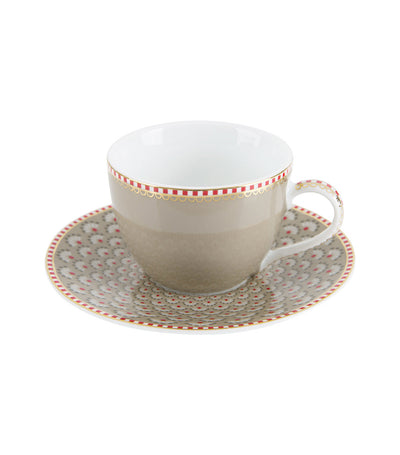pip studio bloomingtails khaki espresso cup and saucer