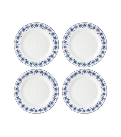 portmeirion sophie conran blue 8-inch side plate set of 4