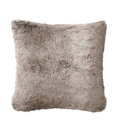 pottery barn faux fur gray ombre pillow cover