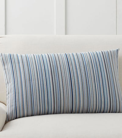 pottery barn lex striped reversible lumbar pillow cover