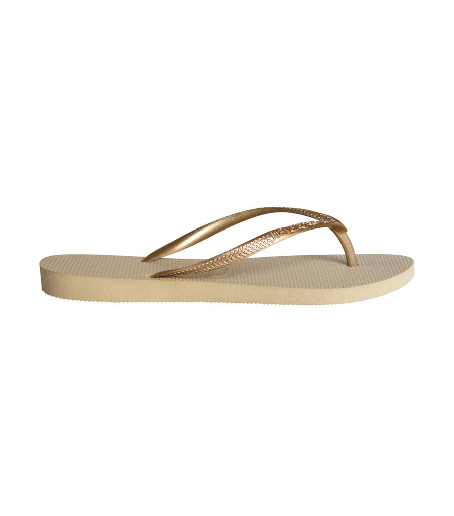Havaianas Women's Slim Flip Flops - Light Gold