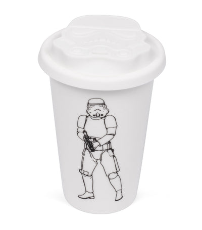 thumbs up stromtrooper ceramic travel mug - white