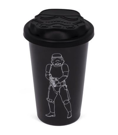 thumbs up stormtrooper ceramic travel mug - black