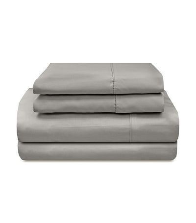 veratex gray supreme sateen solid sheet set - twin