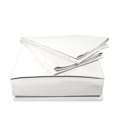 veratex white supreme sateen solid sheet set - twin