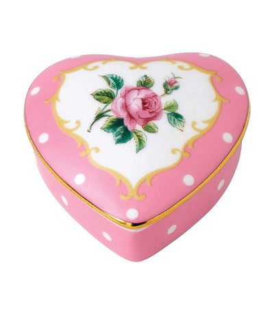 royal albert small cheeky pink heart box