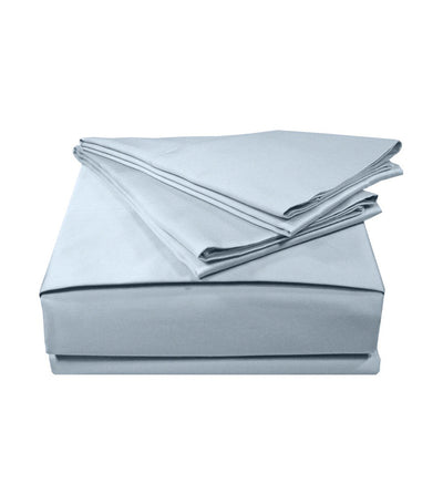 veratex blue supreme sateen solid sheet set - twin