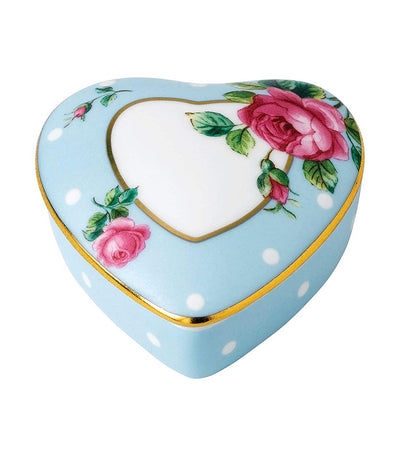royal albert small polka blue heart box