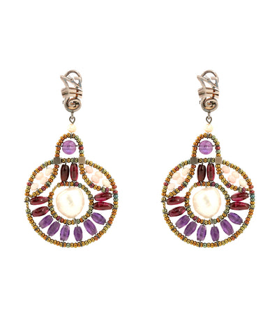 ziio cosmic lilla french clip earrings