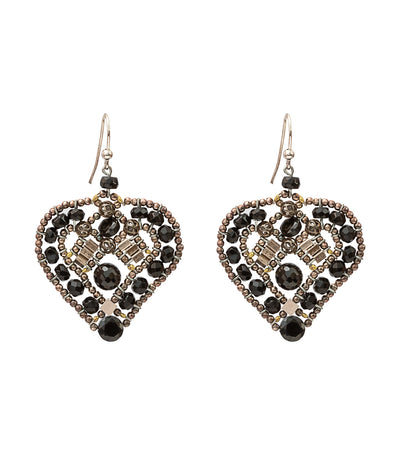 ziio coeur black earrings
