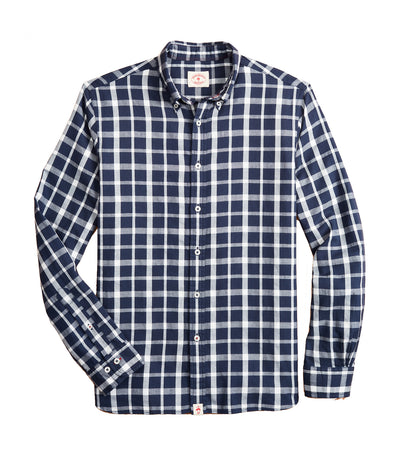 Red Fleece Indigo Checked Dobby Shirt