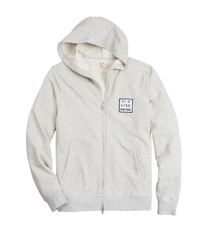 Red Fleece French Terry Zip-Up Hoodie