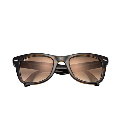 ray-ban wayfarer folding classic rb4105 brown