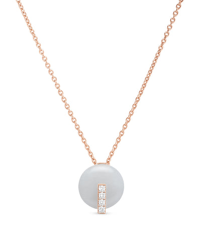 roberto coin colored treasures rose gold necklace with white jade and diamonds