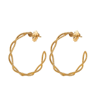 roberto coin new barocco large hoop earrings 18k yellow gold