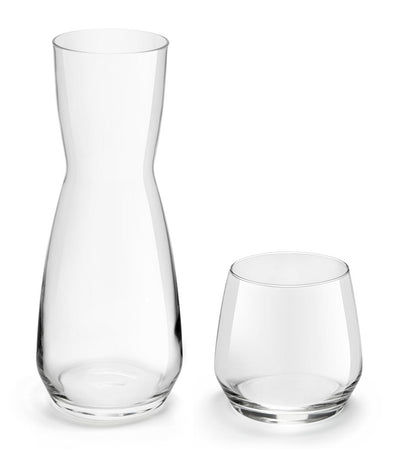 royal leerdam vitality set of four tumblers and one carafe