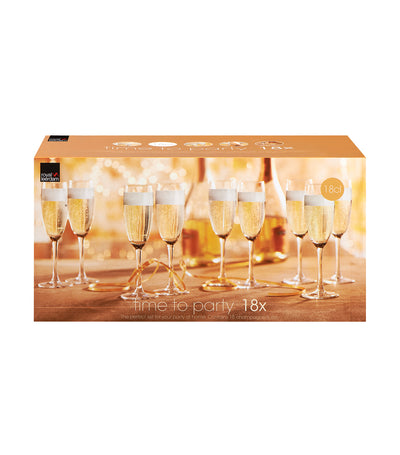 royal leerdam time to party 18-piece set of champagne flutes
