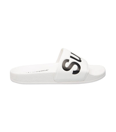 Superga 1908 PUU Slides White and Black