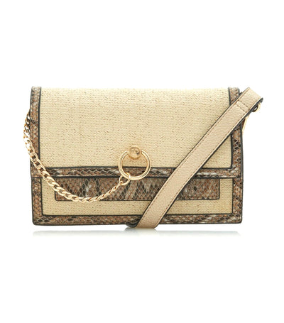 Saffia DI Draped Chain Shoulder Bag Natural