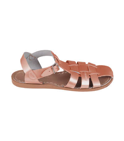 salt-water sandals woman shark premium sandals rose gold