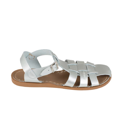 salt-water sandals woman shark premium sandals silver