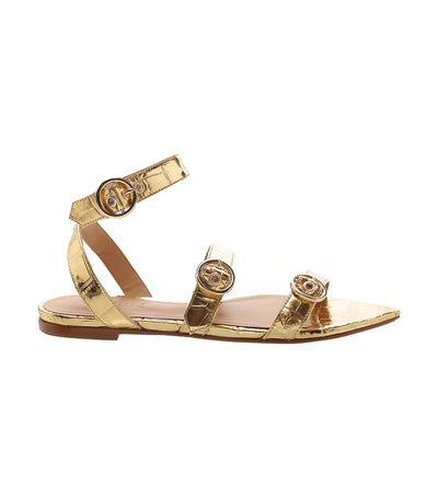 New Crocodile Sandal Gold